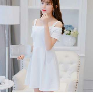 Calan Diana womens korean style solid color knitted strapped (dress)