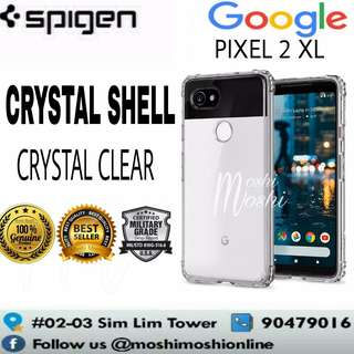 Spigen Pixel 2 XL Crystal Shell Clear Case Casing Cover
