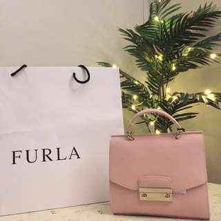 Furla julia with handle and long chain