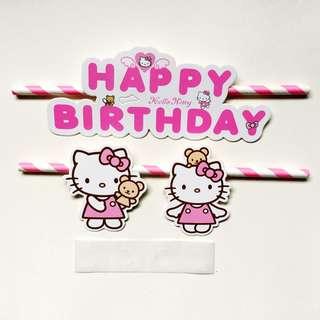 Birthday Cake Topper (Hello Kitty & Doraemon)