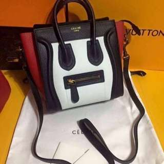 Celine nano Black and Red