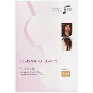 Surpassing Beauty Concert Book (with Signatures of Violinist and Composer)