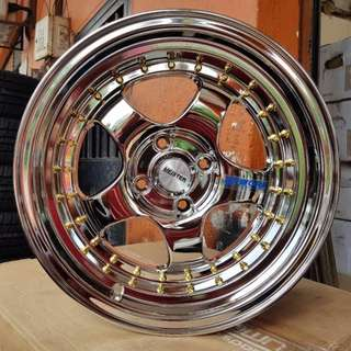 SPORT RIM 15inch S1 WORK MIESTER FULL CHROME