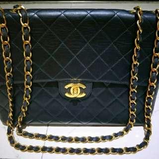 Chanel Vintage Lambskin Jumbo Flap
