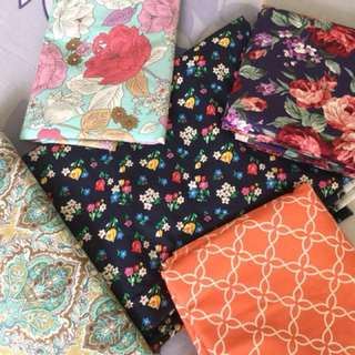 Cotton fabric for sale (3yards each)- $20 per design