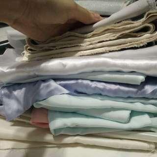 Satin & Silk Fabric Pile