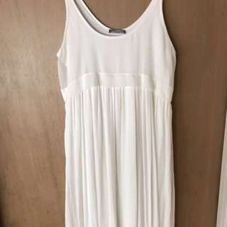 Zara White maxi dress