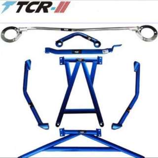 Full set strut bars for VW Scirocco and Golf 6 MK6 (ULTRA LIGHT WEIGHT)