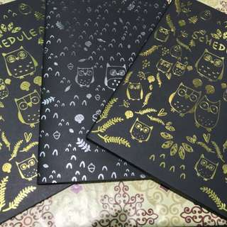 Black Notebook with Free 2 Neon Pens