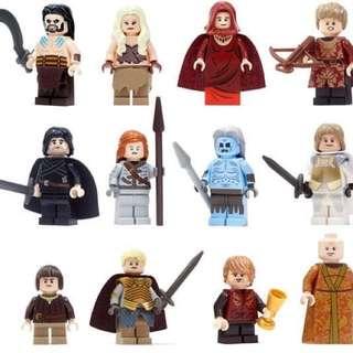 "12 set Game of Thrones Bootleg ""Lego"" Brick"