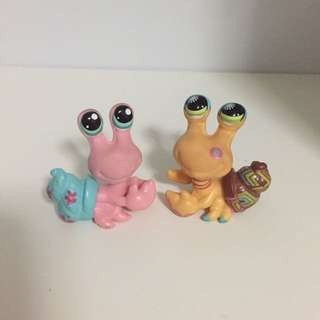 LPS G2 Snail Figurines