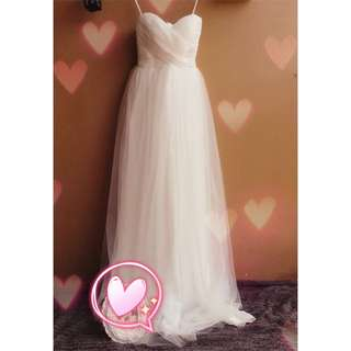 Wedding ROM dress simple sweetheart tube gown #budgetbride #budgetwedding