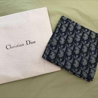 Christian Dior Navy Cd logo Scarf No 2