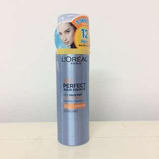 🆕 L'oreal Paris UV Perfect Aqua Essence City Face Mist Sunscreen SPF50+ PA++++