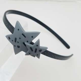Marc Jacobs reluntant stars髮飾頭箍(閃黑)