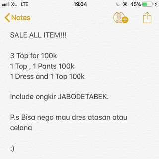 SALE ALL ITEM