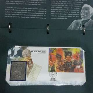 Rare Malaysian First Day Cover with Pos Malaysia & Royal Selangor Pewter Stamps housed in Original Cover Club Album
