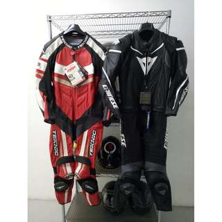 Racing track leather suit