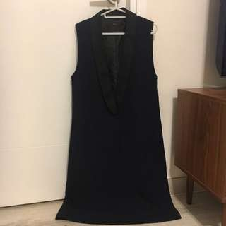 initial 深藍背心裙