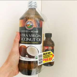 Free 100ml Virgin Coconut Oil 1 liter country Organic Farm