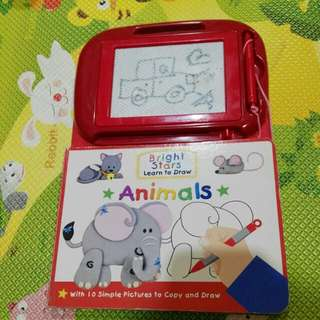 Learn to draw animals drawing board book