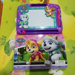 Paw patrol drawing board book