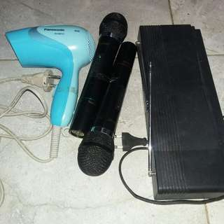 Double mic wireless & hairdryer