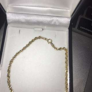 9ct Gold 45cm Rope Chain (Prouds Bracelet) (need gone urgently!!)