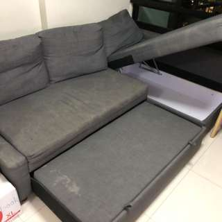 IKEA L Shape Sofa Bed with Storage