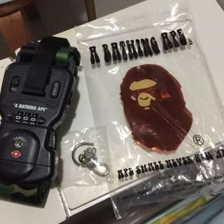 Bathing ape電子磅行李帶