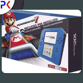 Nintendo 2DS Electric Blue with Mario Kart 7