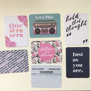 Double sided artistic cards