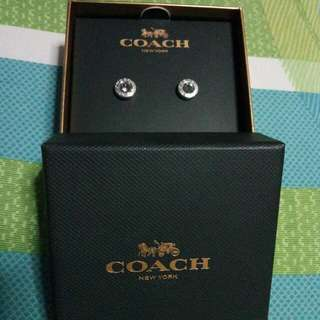 Authentic Coach Stud Earrings
