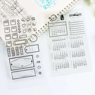 Instock calendar stamps set
