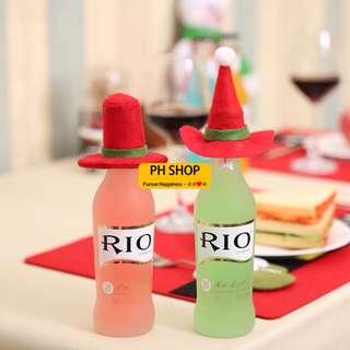 【PH SHOP】聖誕小帽子 聖誕裝飾帽 聖誕酒瓶裝飾