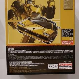 Badcube sunsurge masterpiece not Mp-39 Transformers sunstreaker