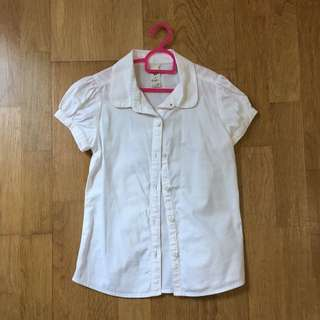 Osh Kosh Girl's White Cotton Blouse age 5