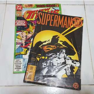 Vintage Collectable DC Comicbook [Superman 10 cent Adventure] & [The New Titans Vol 1 #39]