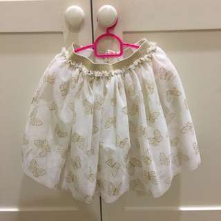 H&M Girls Sparkly Butterfly Skirt 3-4Y