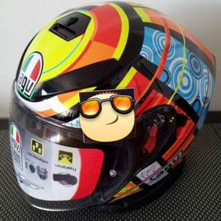 Authentic AGV K5 Jet Elements Valentino Rossi 46 Open Face With Inner Lens Helmet