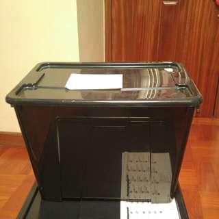 Ikea samla 細黑色膠箱1個