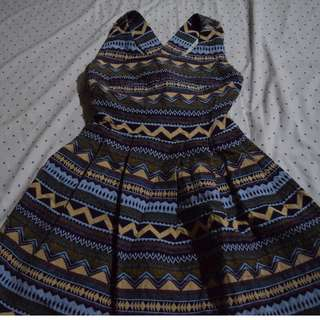 Aztec cocktail dress