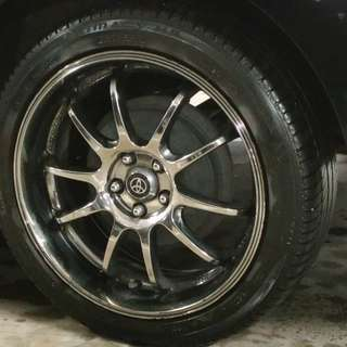 "17"" Rims with Tires for Toyota Wish"