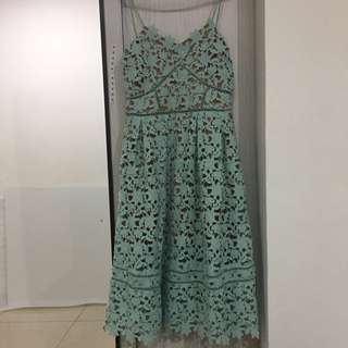 Laced dinner dress