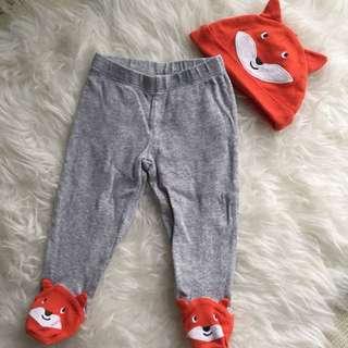 Carter's Fox Pants & Hat