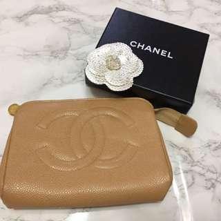 Chanel 魚子醬皮化妝袋 (Vintage中古)