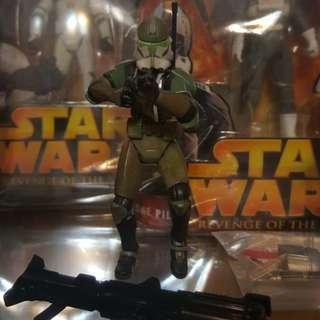 "Star Wars 3.75"" Clone Commander Gree"