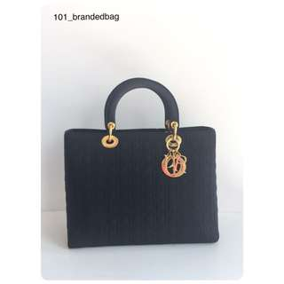Christian Dior Microfiber Large Tote Bag
