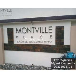 Quezon City Townhouse For Sale - Montville Place Sauyo