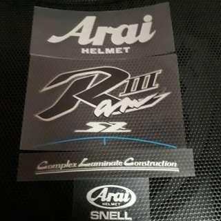100% Original Arai Replacement Emblem Sticker Sets [ Sell As Complete Set ]
